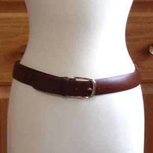 TALBOTS - Brown Leather Belt - In Great Shape!